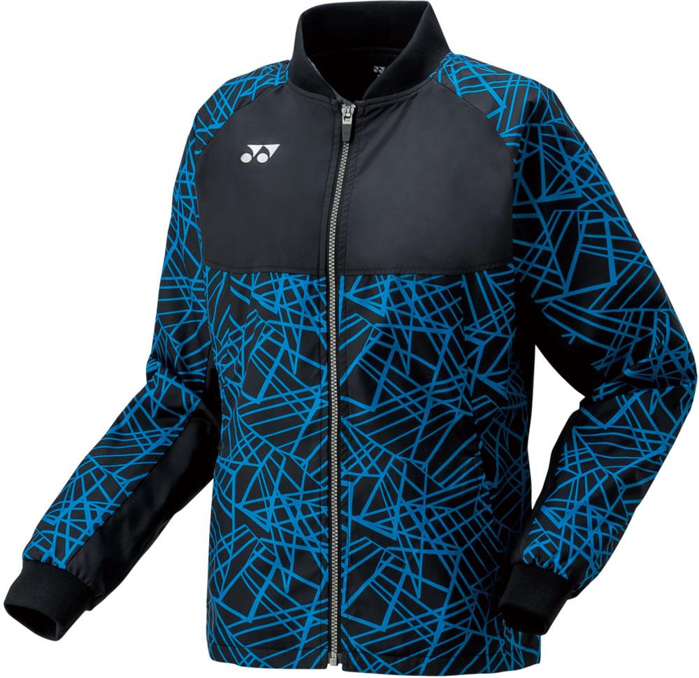 【ラッキーシール対象】Yonex(ヨネックス)テニスウインドウェア裏地付ウィンドウォーマーシャツ レディース78051ブラック/ブルー