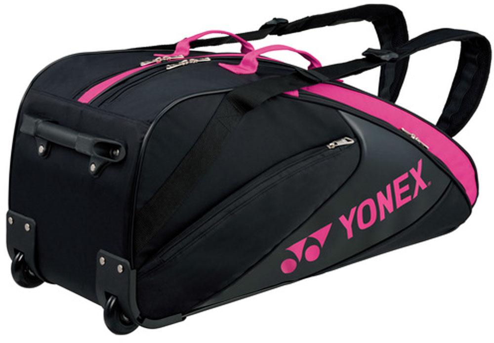 【ラッキーシール対象】Yonex(ヨネックス)テニスバッグラケットバッグ キャスター付 テニス6本用BAG1732Cブラック/ピンク