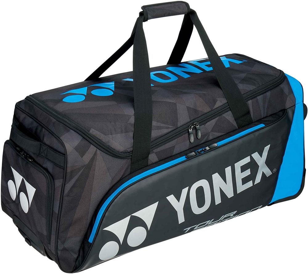 【ラッキーシール対象】Yonex(ヨネックス)テニスバッグキャスターバッグ ラケット3本収納可BAG1800Cブラック/ブルー