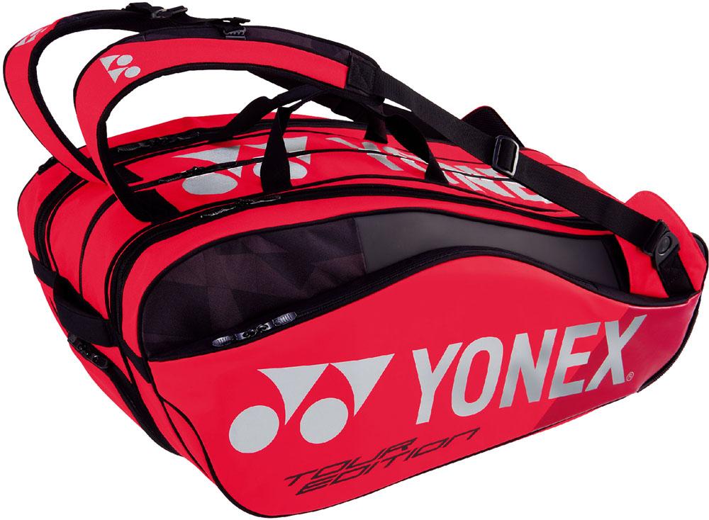 【ラッキーシール対象】Yonex(ヨネックス)テニスバッグラケットバッグ9 ラケット9本収納BAG1802Nフレイムレッド