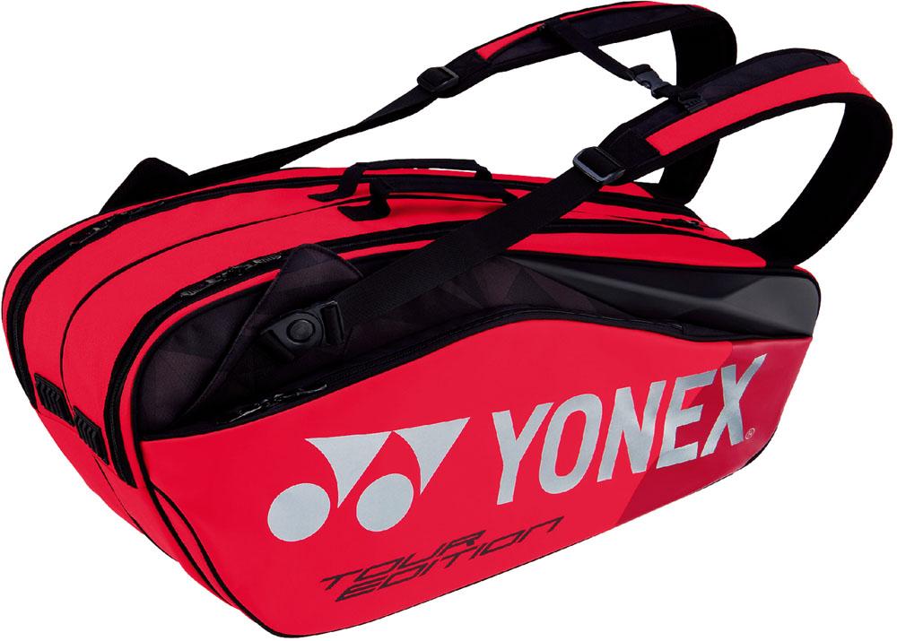 【ラッキーシール対象】Yonex(ヨネックス)テニスバッグラケットバッグ6 ラケット6本収納BAG1802Rフレイムレッド