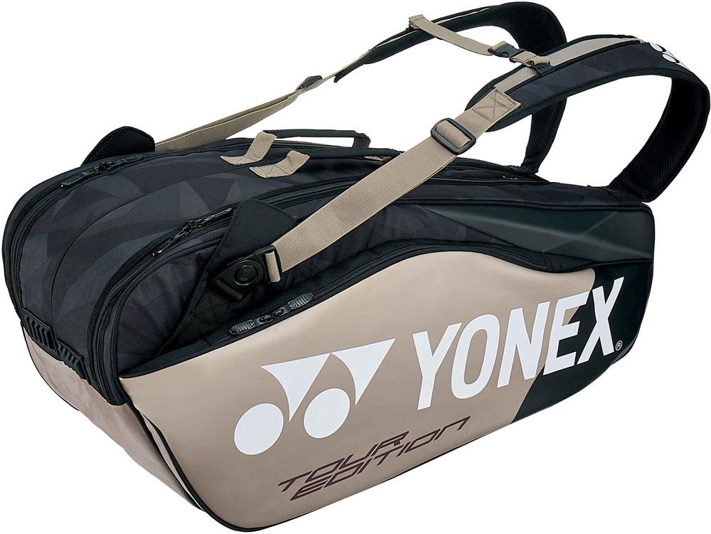 【ラッキーシール対象】Yonex(ヨネックス)テニスバッグラケットバッグ6 ラケット6本収納BAG1802Rプラチナ