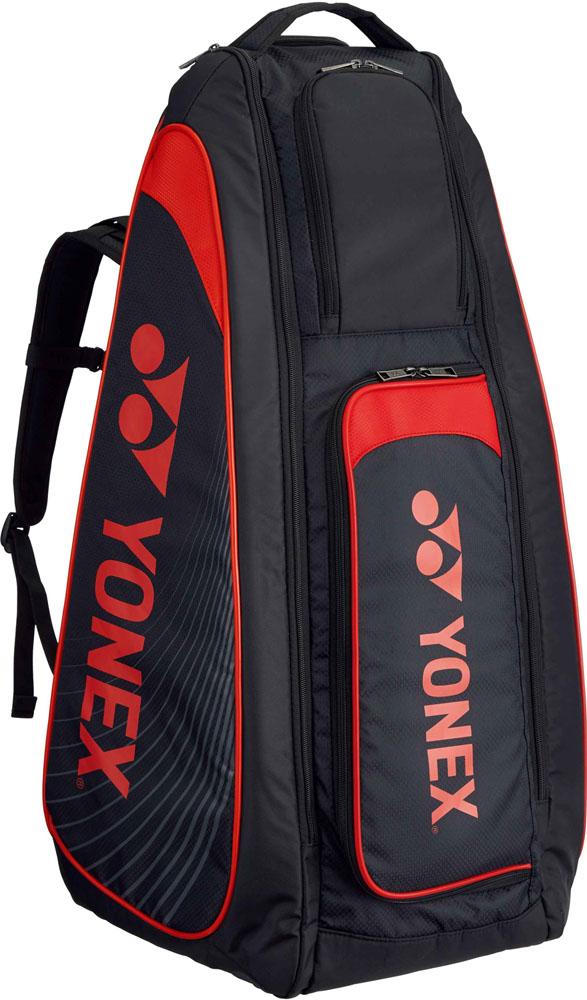 【ラッキーシール対象】Yonex(ヨネックス)テニスバッグ(テニス用ラケットバッグ) TOURNAMENT SERIES スタンドバッグ リュック付(テニスラケット2本用)BAG1819ブラック/レッド