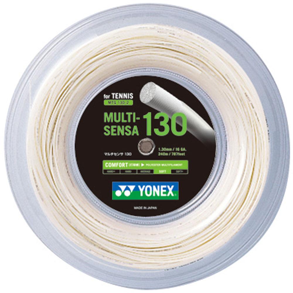 【ラッキーシール対象】 Yonex(ヨネックス)テニスガット・ラバーマルチセンサ 130(240mロール)MTG1302ホワイト