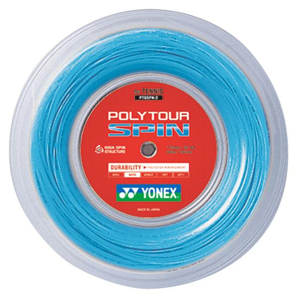 【ラッキーシール対象】Yonex(ヨネックス)テニスガット・ラバーポリツアースピン(240m)PTGSPN2コバルトブルー
