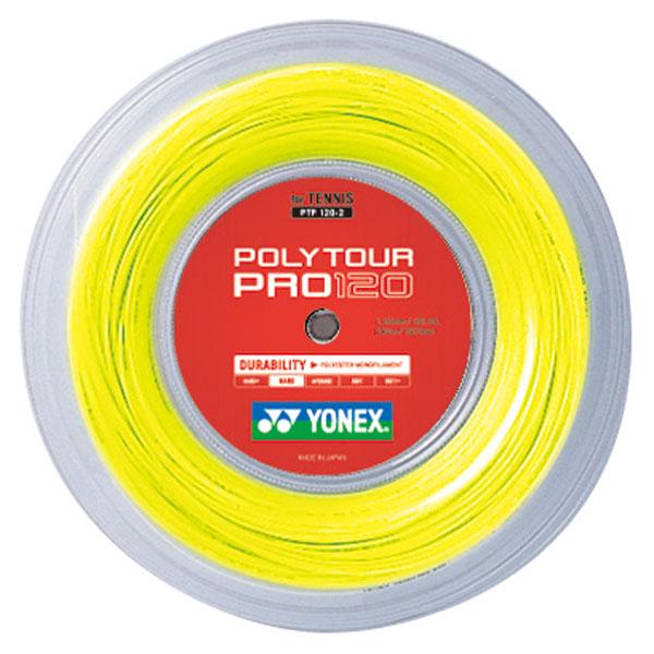 【ラッキーシール対象】 Yonex(ヨネックス)テニスガット・ラバーポリツアープロ 120(240m)PTP1202フラッシュイエロー