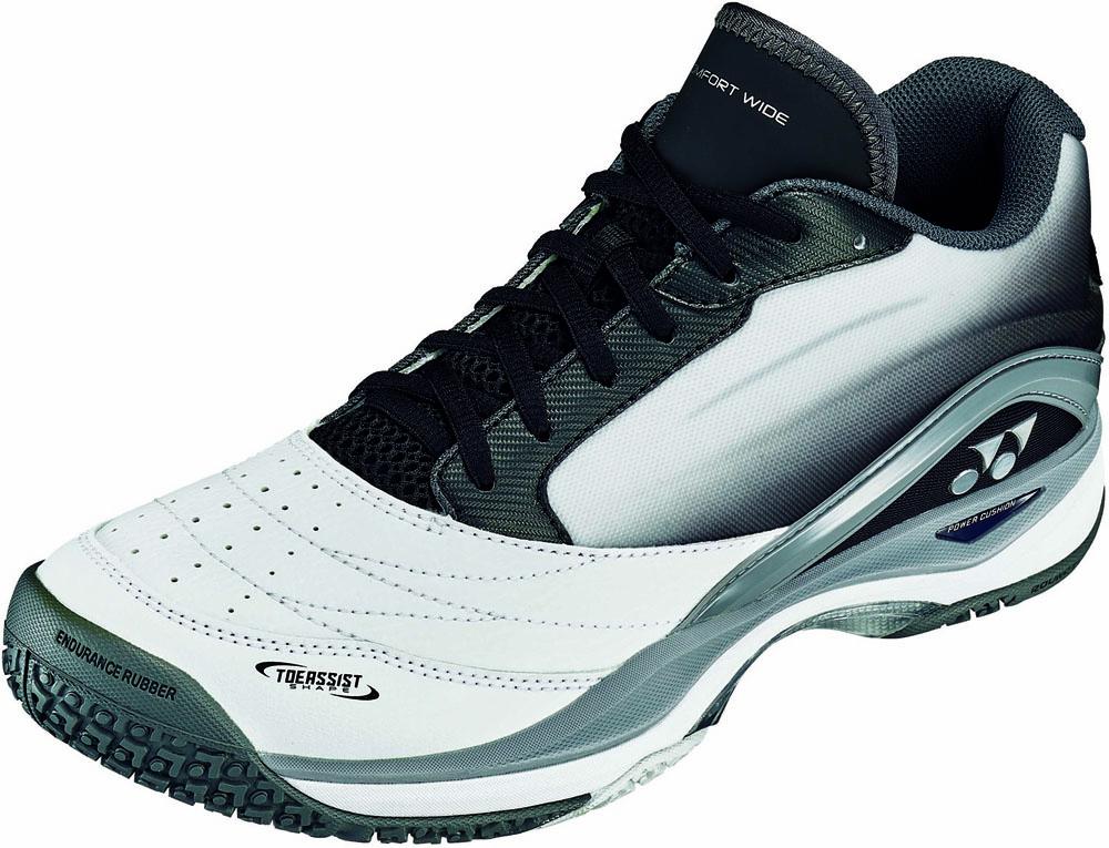 【ラッキーシール対象】Yonex(ヨネックス)テニスシューズ男女兼用 クレー/砂入り人工芝コート用テニスシューズ パワークッションコンフォート W2 GC ホワイト×ブラックSHTCW2GCホワイト/ブラック