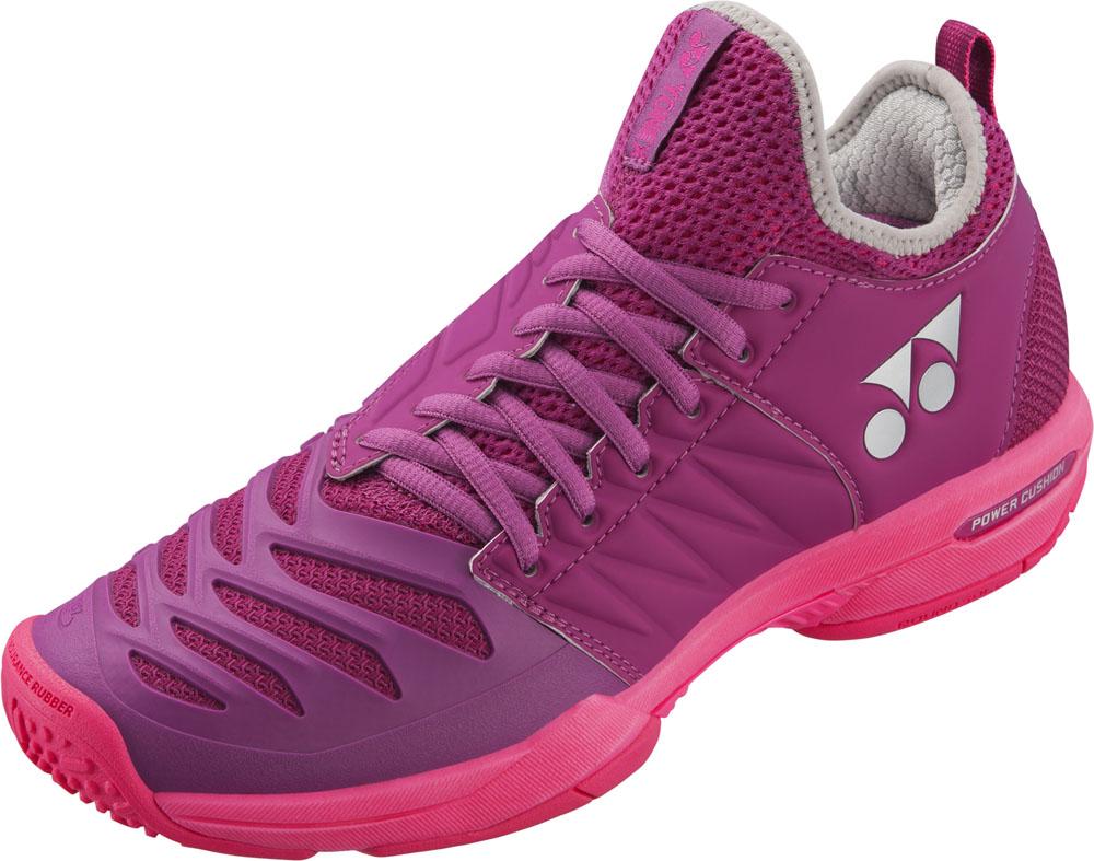 【ラッキーシール対象】Yonex(ヨネックス)テニスシューズテニスシューズ POWER CUSHION FUSIONREV3 WOMEN GC(パワークッション フュージョンレブ3 ウィメン GC)SHTF3LGCベリーピンク