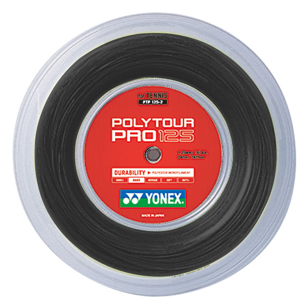 【ラッキーシール対象】Yonex(ヨネックス)バドミントンガット・ラバーポリツアープロ125(240m)PTP1252グラファイト