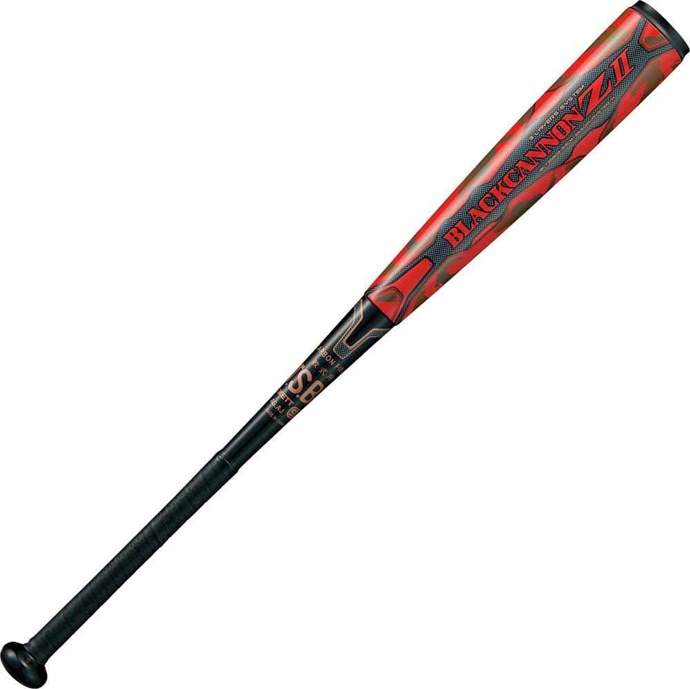 【ラッキーシール対象】ZETT(ゼット)野球&ソフト野球バット一般軟式 FRP製 カーボン製バット ブラックキャノン-Z2 83cmBCT35803ブラツク/レツド