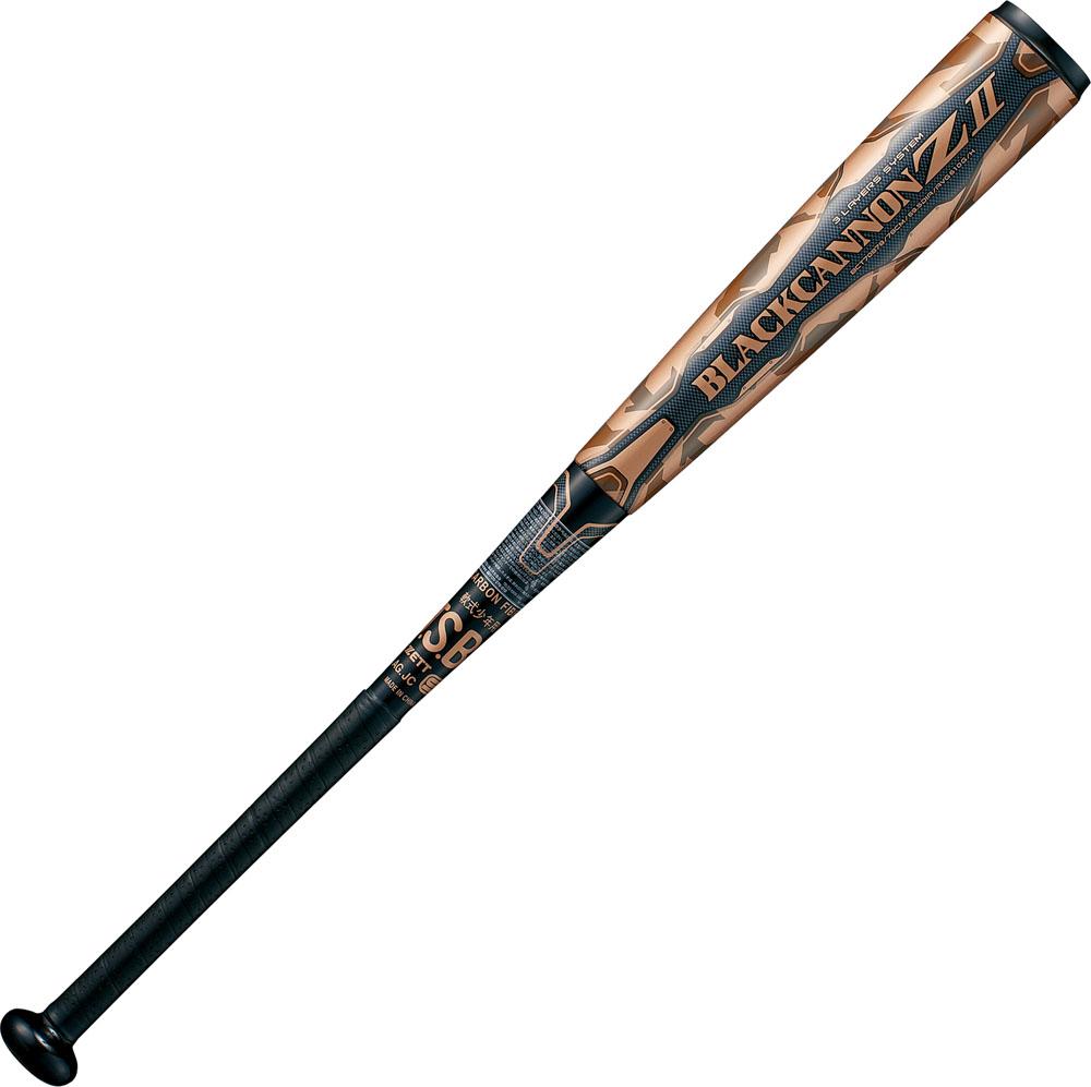 【ラッキーシール対象】 ZETT(ゼット)野球&ソフト野球バット(少年軟式野球用 FRP(カーボン)製バット) ブラックキャノンゼット2 80cm BLACKCANNON Z2 新球J号ボール対応品BCT75880ブラック