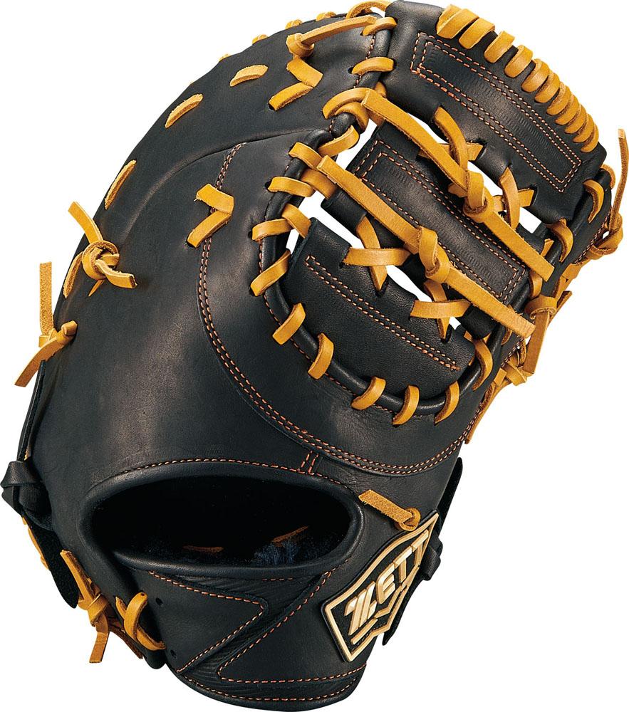 【ラッキーシール対象】 ZETT(ゼット)野球&ソフト野球グラブ少年軟式野球用 ファーストミット ゼロワンステージBJFB71913ブラック/オ-クB