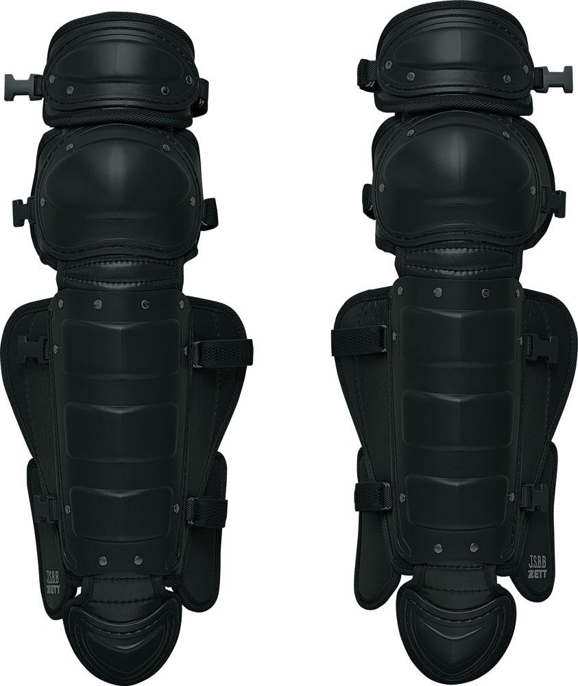 【ラッキーシール対象】ZETT(ゼット)野球&ソフトマスク・プロテクター【一般・中学用】 軟式野球用レガーツ MサイズBLL3233Mブラック