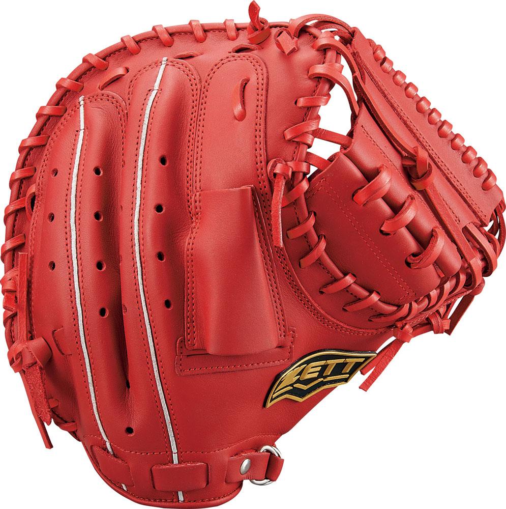 ZETT(ゼット)野球&ソフト野球グラブ野球 軟式キャッチミット 捕手用 デュアルキャッチBRCB34912レッド