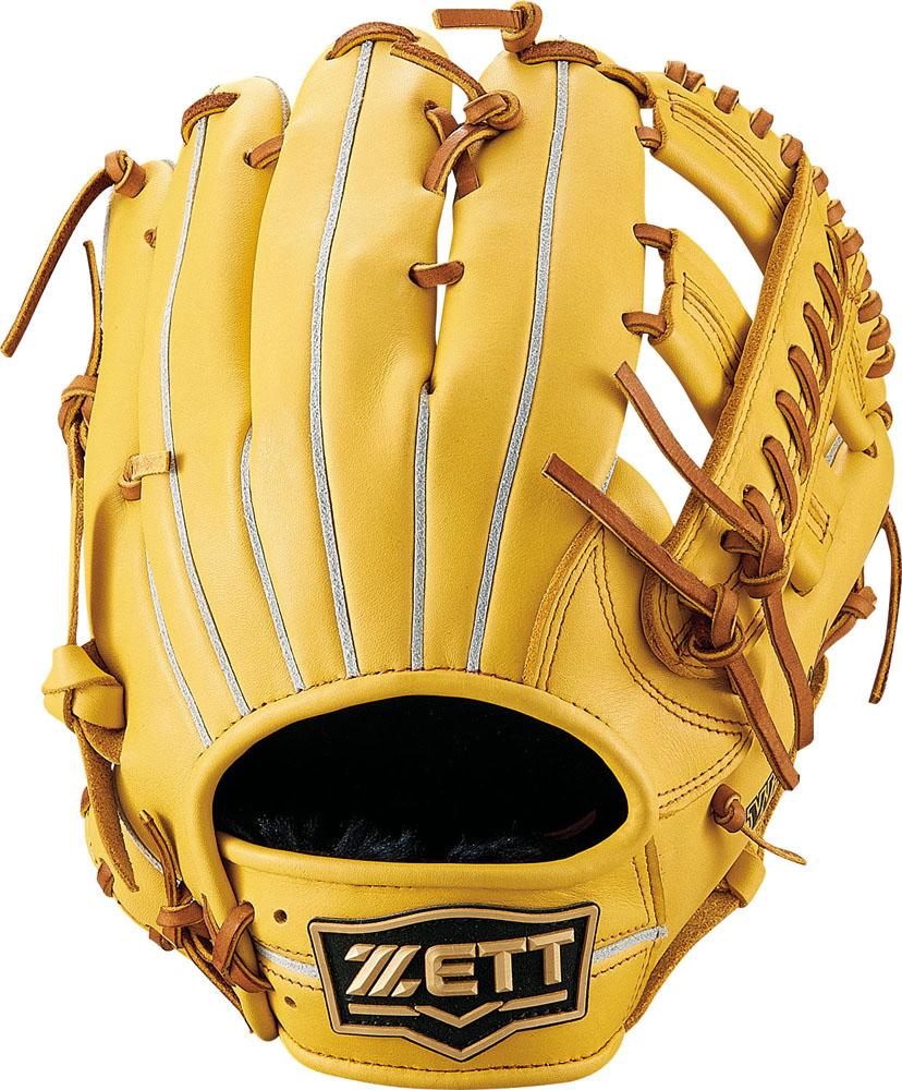ZETT(ゼット)野球&ソフト野球グラブ野球 軟式グラブ オールラウンド用 ウイニングロードBRGB33920Tイエロー/オークB