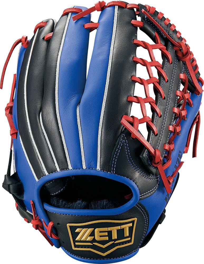 ZETT(ゼット)野球&ソフト野球グラブソフトボール グラブ オールラウンド用 リアライズBSGB52930ブラック/Rブルー