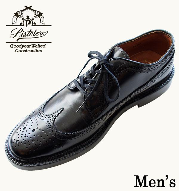 【PISTOLERO(ピストレロ)】Men's Cambridge Wing Tip [502] ワイズD メンズ ウイングチップ日本正規代理店 送料無料