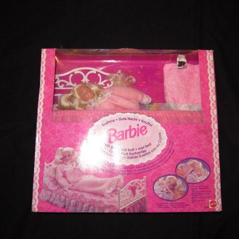 <title>ベッドタイムバービーです 営業 豪華なベッドセットです 1994年 Barbie Bedtime ベッドタイムバービー 人形 フィギュア</title>