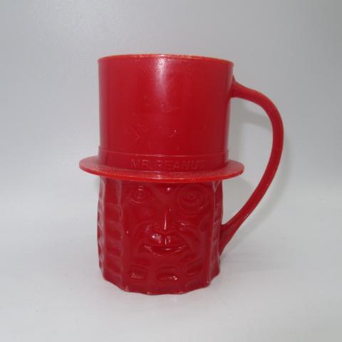 ミスターピーナッツのプラカップです ビンテージ MR.PEANUT ミスターピーナッツ プラスティックカップ オールド フィギュア カップ 人形 贈答 ※ラッピング ※