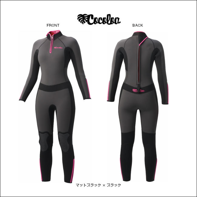 2018年NEW!!【 COCOLOA 】 ココロア 5mm フロントジップウェットスーツ GW-6428( フルスーツ / レデイース / ウエットスーツ / 女性用 )