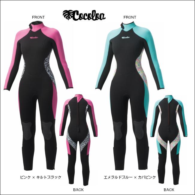 2018年NEW!!【 COCOLOA 】 ココロア 5mm ウェットスーツ GW-6427( フルスーツ / レデイース / ウエットスーツ / 女性用 )