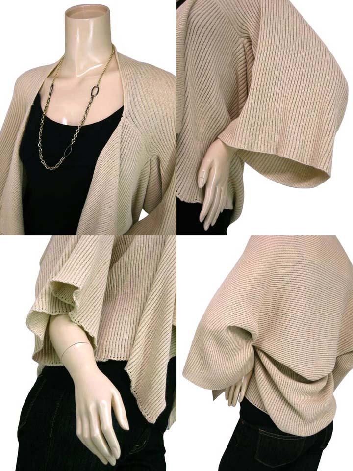 SPLASH FAST [スプラッシュファースト] flare sleeves / draping knit Bolero