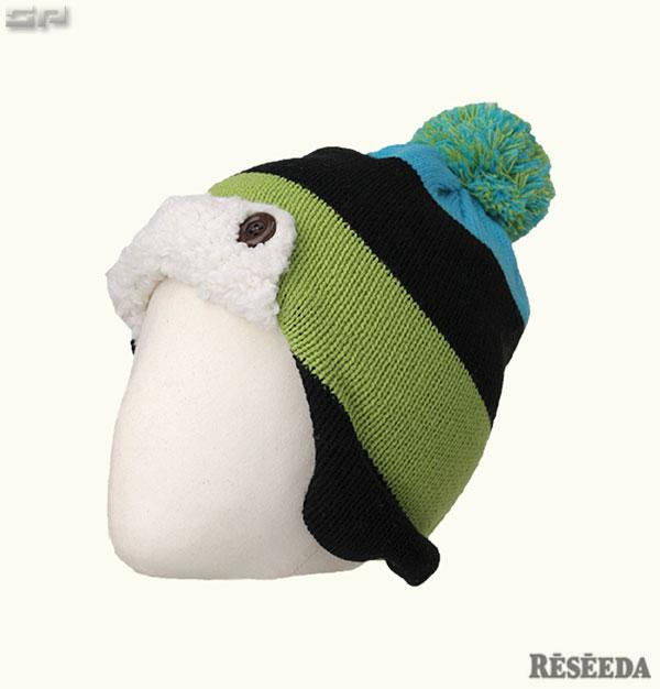 【旧品処分】【再値下げ】【残りわずか】 【メール便OK】ONYONE RESEEDA(オンヨネ レセーダ) REA77201 ジュニア スキーニットキャップ ビーニー ニット帽 耳あて付