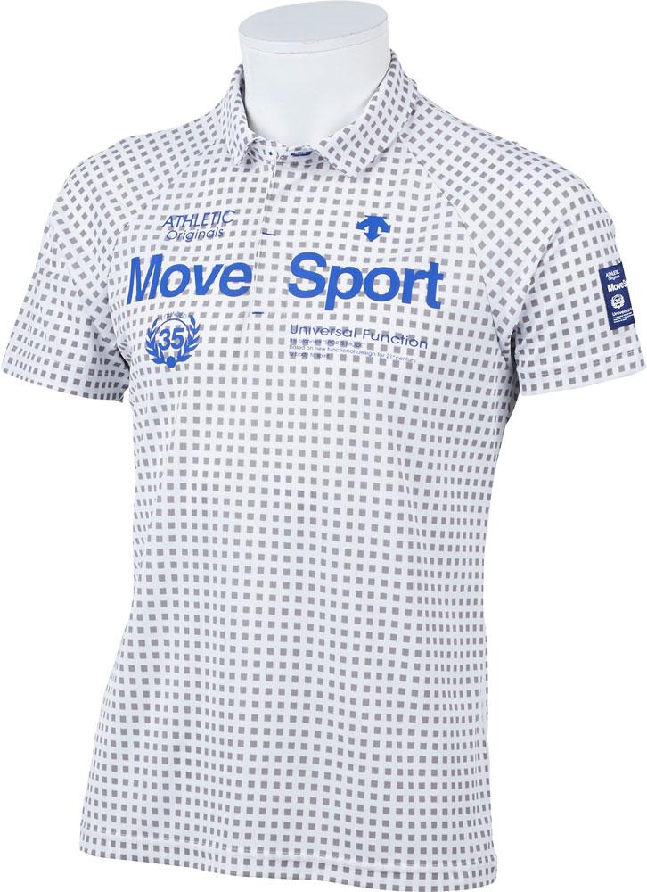 DESCENTE GOLF(デサントゴルフ) DGMPJA31 メンズ クイックドライ市松プリント鹿の子シャツ ゴルフウェア 半袖ポロシャツ