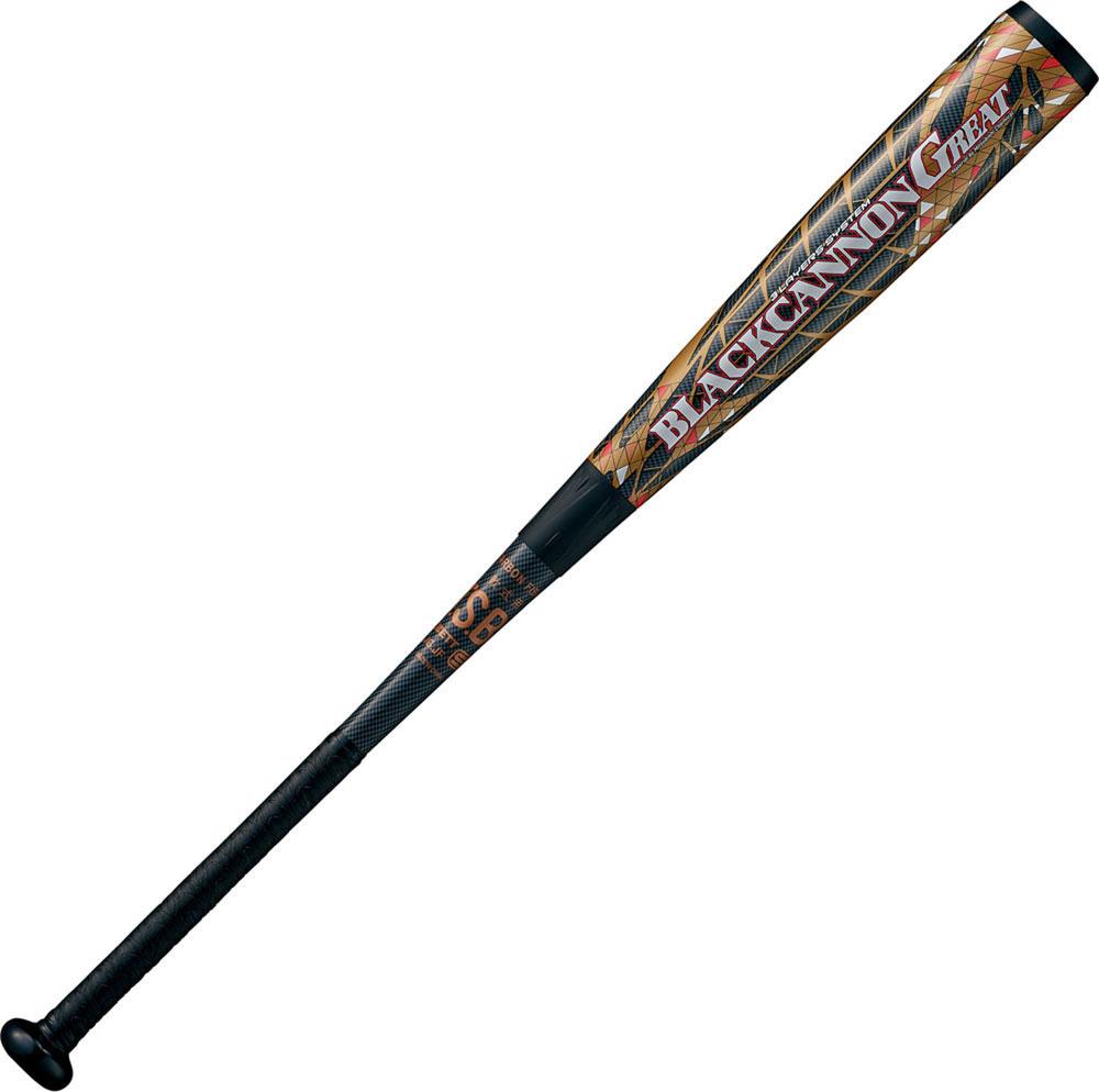 ZETT(ゼット) BCT35084 軟式FRP製バット ブラックキャノン‐GREAT 野球 ベースボール 84cm