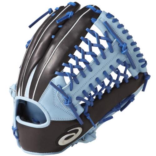 アシックス(asics)ソフトボール用 ビッドシャイン(VIDSHINE) 外野手用 右投スカイブルー×ブラック サイズ11BGS7XU 4190 グローブ