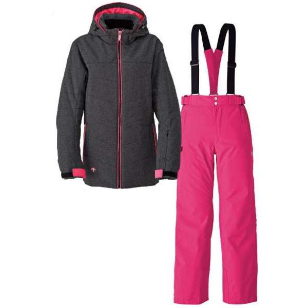 デサント(DESCENTE) レディース スキースーツジャケット・パンツ 上下セット カラー ブラックDRA5290WF BLKスキーウエア
