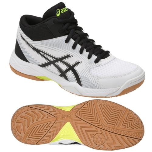 ASICS (Asics) gel task MT (GEL-TASK MT) white X black TVR717 0190  volleyball shoes middle cut