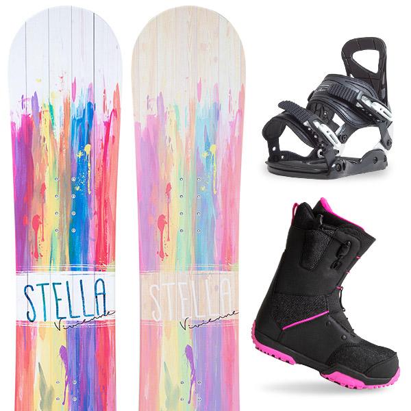 【500円クーポン】【取付無料】スノーボード 3点セット 板 レディースVIVIENNE 板 スノーボード スノボ スノボー グラトリ 3点snowboard ツヤ消し マットコーティング