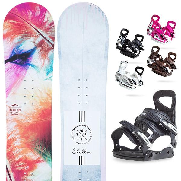 【500円クーポン】【取付無料】スノーボード 2点セット 板 レディースFEATHER AQUARIUS 板 スノーボード スノボ スノボー グラトリ 2点snowboard ツヤ消し マットコーティング