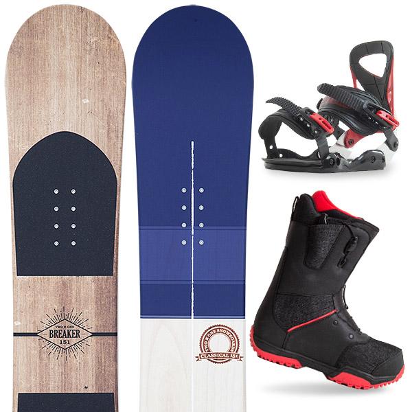 【500円クーポン】【取付無料】スノーボード 3点セット 板 メンズ レディースBREAKER CLASSICAL 板 スノーボード スノボ スノボー グラトリ 3点snowboard ツヤ消し マットコーティング