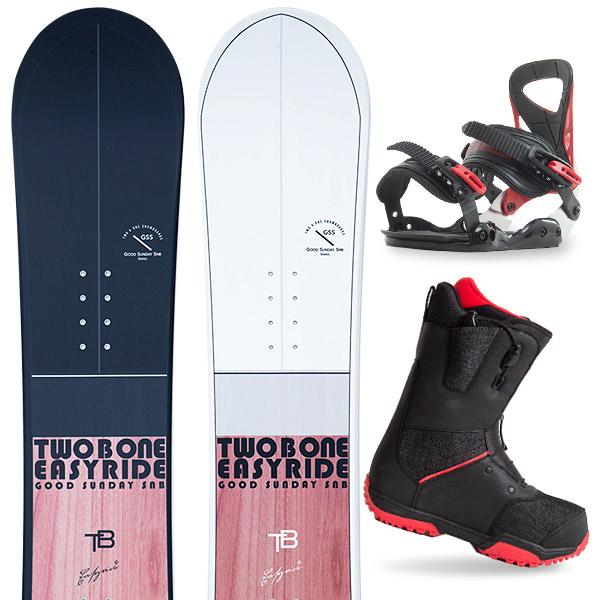 【500円クーポン】【取付無料】スノーボード 3点セット 板 メンズ レディースEASYRIDE 板 スノーボード スノボ スノボー グラトリ 3点snowboard ツヤ消し マットコーティング