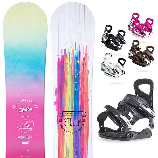【500円クーポン】【取付無料】スノーボード 2点セット 板 レディースMOONLIGHT JULIANNE 板 スノーボード スノボ スノボー グラトリ 2点snowboard ツヤ消し マットコーティング