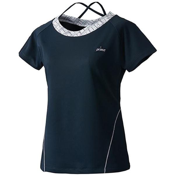 プリンス Prince 専門店 ゲームシャツ 肩ひも 半袖 レディース テニス [再販ご予約限定送料無料] WF1064-127
