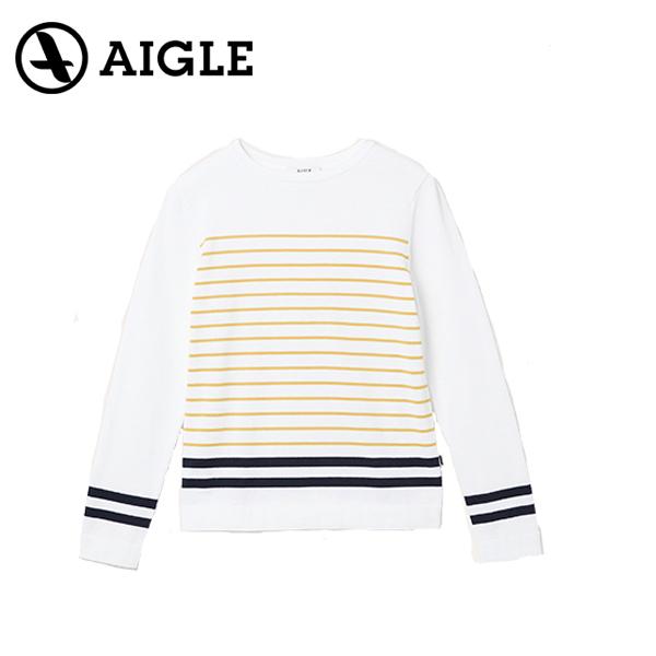 AIGLE エイグル AMORINO STRIPED PULLOVERアウトドア セーター20 春夏 ZAF019J-001