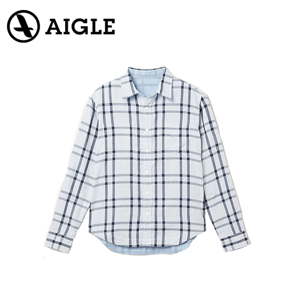 AIGLE エイグル COJEAN REVERSIBLE L/S SHIRTSアウトドア シャツ20 春夏 ZCH051J-075