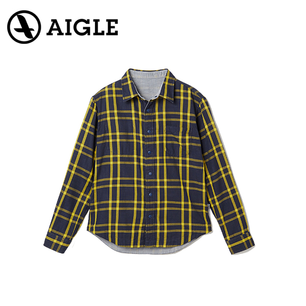 AIGLE エイグル COJEAN REVERSIBLE L/S SHIRTSアウトドア シャツ20 春夏 ZCH051J-307