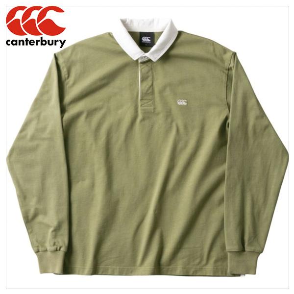 カンタベリー CANTERBURY SOLID COLOR RUGBY シャツ RA48560-45 ラガーシャツ ラグビー ポロシャツ 長袖 冬 防寒 カジュアル