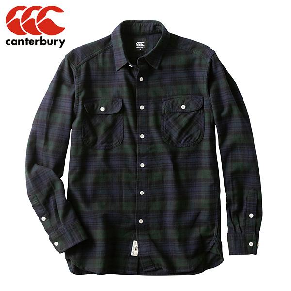 カンタベリー CANTERBURY ロングスリーブ マドラスチェックワークシャツ (メンズ) RA49565-29 ワークシャツ 長袖 カジュアル