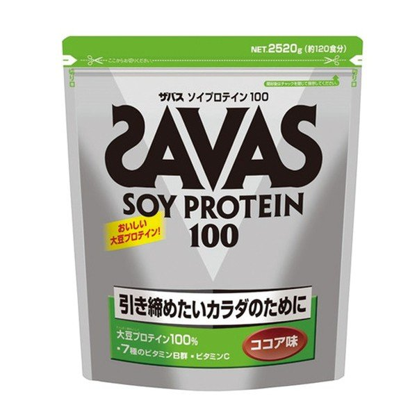 SAVAS/ザバス ソイプロテイン100 ココア 2520g スポーツケア用品