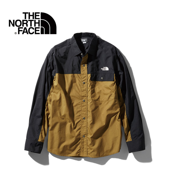 THE NORTH FACE ノースフェイス アウトドア L/S NUPTSE SHIRTシャツ 20 春夏 NR11961-BK