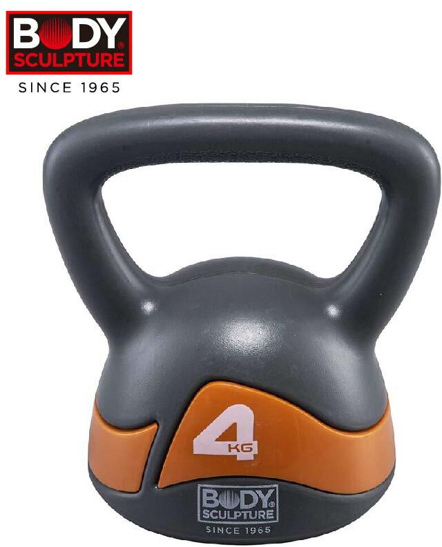 BODYSCULPTUREケトルベル4kg錆びないPEコーティング筋力体幹ファンクショナルトレーニング