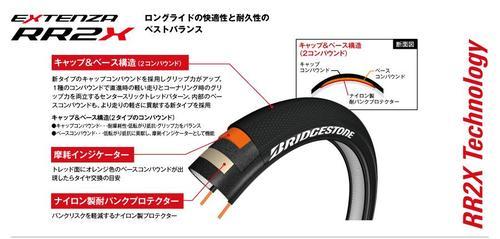 Bridgestone Extensa RR2X long ride model BRIDGESTONE EXTENZA Bridgestone bicycles for road bike tire