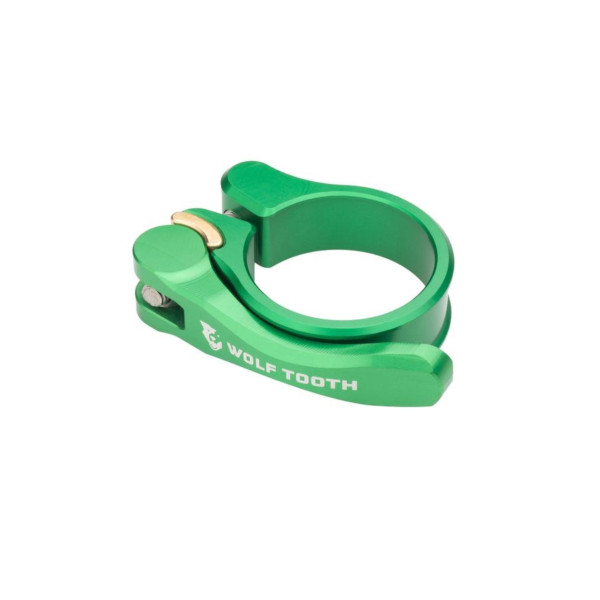 メール便送料250円 売り出し ウルフトゥース チープ Wolf Tooth Seatpost Clamp 38.6 WOLF TOOTH Release Green Quick mm