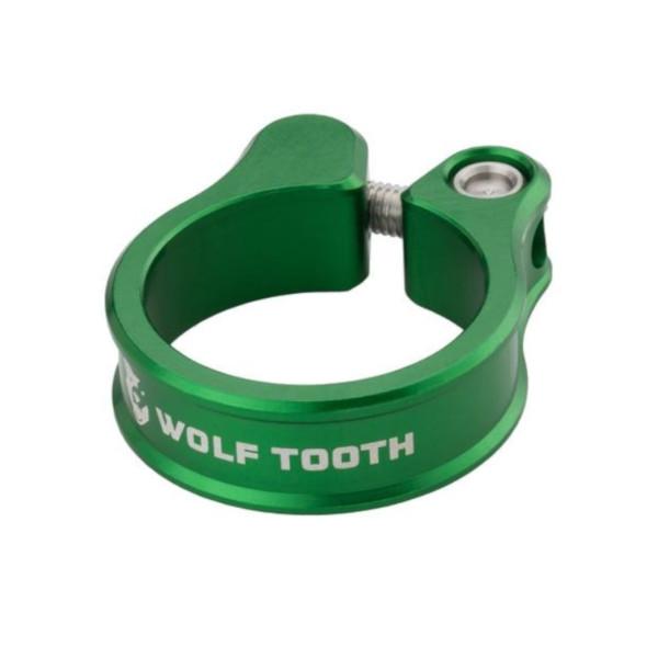 メール便送料250円 ウルフトゥース 内祝い Wolf Tooth Seatpost Clamp WOLF 31.8mm オンラインショッピング Green TOOTH