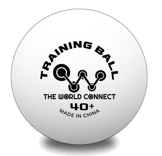 MAX200円クーポン 9 大注目 4 20:00~9 11 1:59迄 ザ 大決算セール プラスチックトレーニングボール 40+ ワールドコネクト DV001 ワールド トレーニングボール 100球入